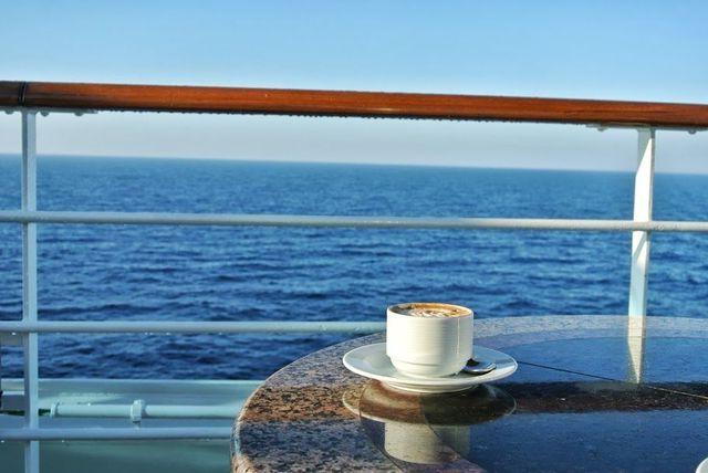 foto kofe u morja