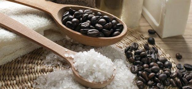 Соль и кофейные зерна - отличное сочетание