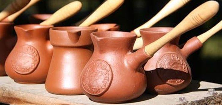 Глиняная турка