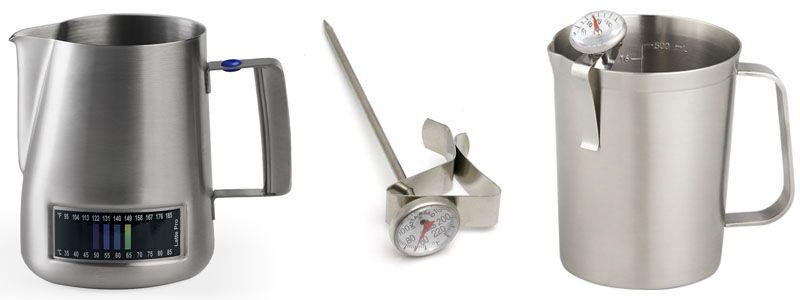 Питчер для молока со встроенным термометром